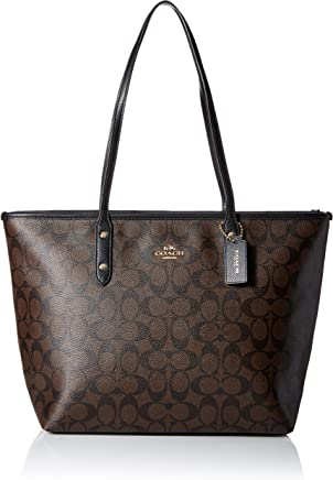 Coach Signature City Zip Tote Bag Handbag 11cd647bf897c