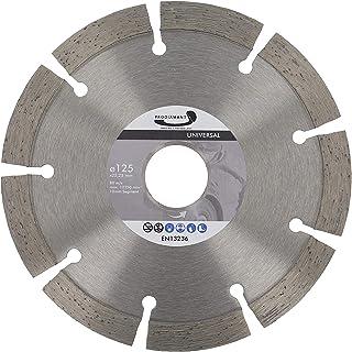 80 m//s /ángulo segmentado para cortar granito 125 x 22,23 x 1,8 mm 2 discos de corte de diamante de 5 pulgadas discos de corte de hormig/ón bloques de mamposter/ía m/ármol cemento