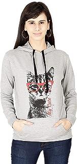 FLEXIMAA Women's Cotton Hooded Sweatshirt