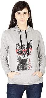 FLEXIMAA Womens Cotton Printed Sweatshirt