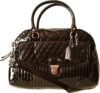 Poppy Liquid Gloss Satchel Top Handle Bag