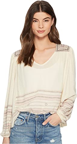 Lucky Brand - Market Embroidered Peasant Top