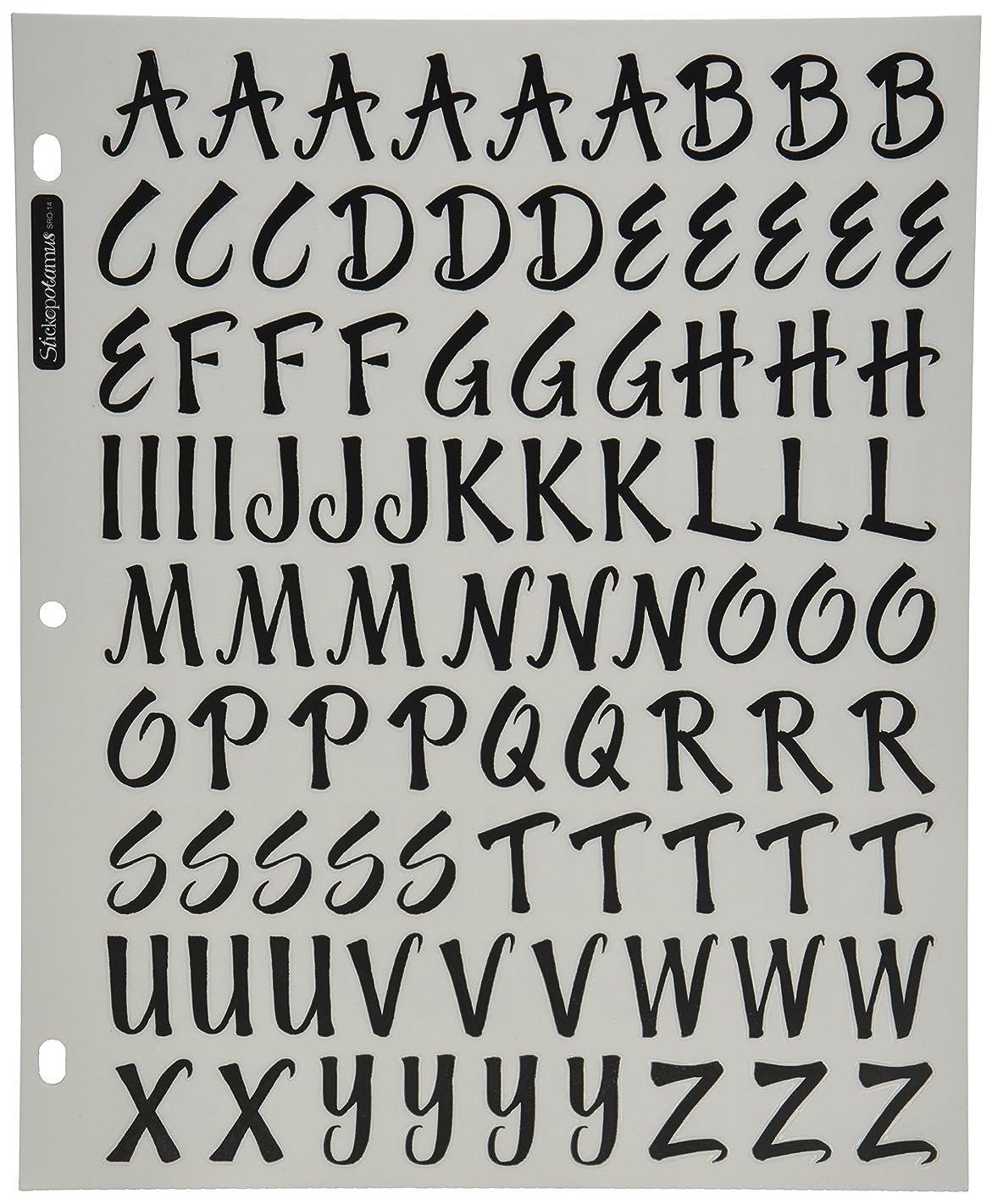 Sticko Alphabet Stickers, Brush Black