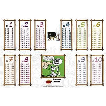 Clairefontaine 812876C - Un Sous-main Astérix avec tables de conjugaison et multiplication 60x40cm, motif potion magique