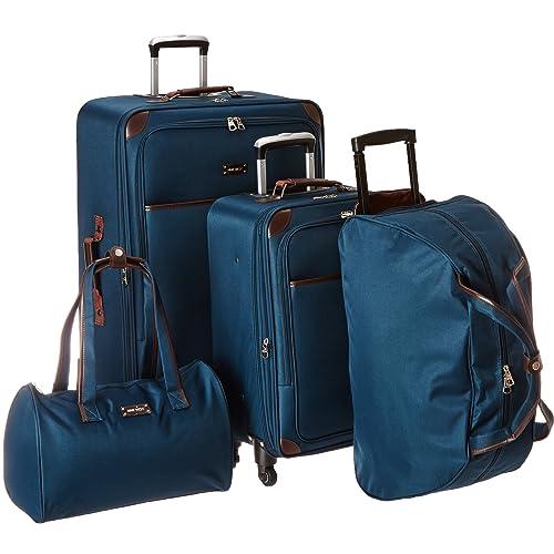 e56a2611e Ninewest Round Trip 5 Piece Luggage Set, Teal, One Size