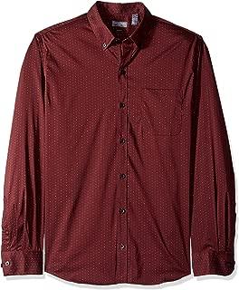 Men's Slim Fit Flex Long Sleeve Button Down Stretch Print Shirt