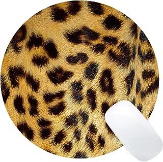 Wknoon Leopard Print Art Round Mouse Pad Circular Mat
