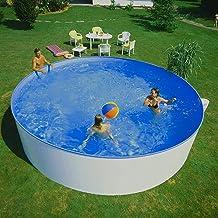 Planet Pool: Stahlwandpool Rundbecken 360 x 84 cm   rund, freistehend & weiß   Swimmingpool groß für den Garten & zum Aufstellen