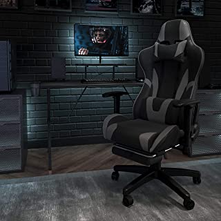 Flash Furniture CH-187230-1-GY-GG-X20 Gaming Chair Racing Office Ergonomic Computer PC Adjustable, Gray LeatherSoft, X20