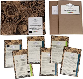 Traditionelle heimische Heilpflanzen Bio - Samen-Geschenkset mit 5 europäischen, alten Heilkräutern für den Arzneigarten
