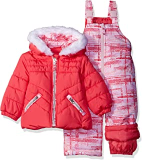 7319dbde7 FREE Shipping on eligible orders. London Fog Baby Girls' Infant 2 Pc  Heavyweight Snowsuit with Abstract Pant