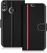 COODIO Custodia in Pelle Huawei P20 Lite, Custodia Huawei P20 Lite, Custodia Portafoglio Cover Porta Carte Chiusura Magnetica per Huawei P20 Lite, Nero/Rosso