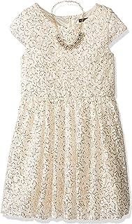فستان بناتي قصير الأكمام من My Michelle للفتيات الكبيرات