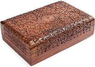 Rusticity Wood Jewelry Box | Handmade | (12x8in)