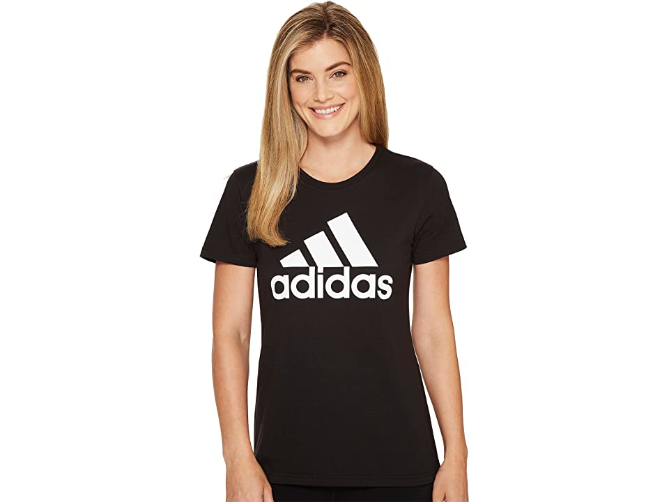adidas Badge Of Sport Logo Tee (Black/White) Women