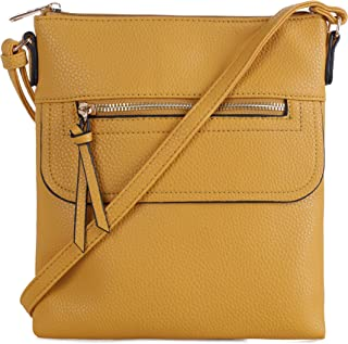 Everyday Chic Fashion Front Pocket Zipper Crossbody Purse for Women