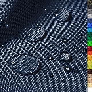 1buy3 Monaco Wasserdichter Polyester Stoff | 12.000 mm Wassersäule | Farbe 16 | Dunkelblau | Polyester Stoff 160cm breit Meterware wasserdicht Outdoor extrem reissfest