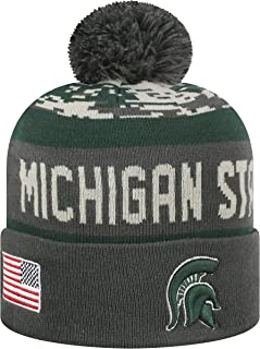 Top of the World NCAA-Salute to USA Military-Cuffed Knit Pom Beanie Hat
