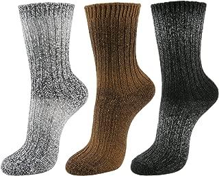 Women's Winter Wool Angora Reindeer Snowflakes Knit Casual Ankle High Socks