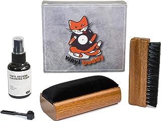 Vinyl Buddy Record Cleaner Kit 5 Piece Ultimate Cleaning System - Velvet Brush - Nylon Fiber Brush - Stylus Brush - Cleani...
