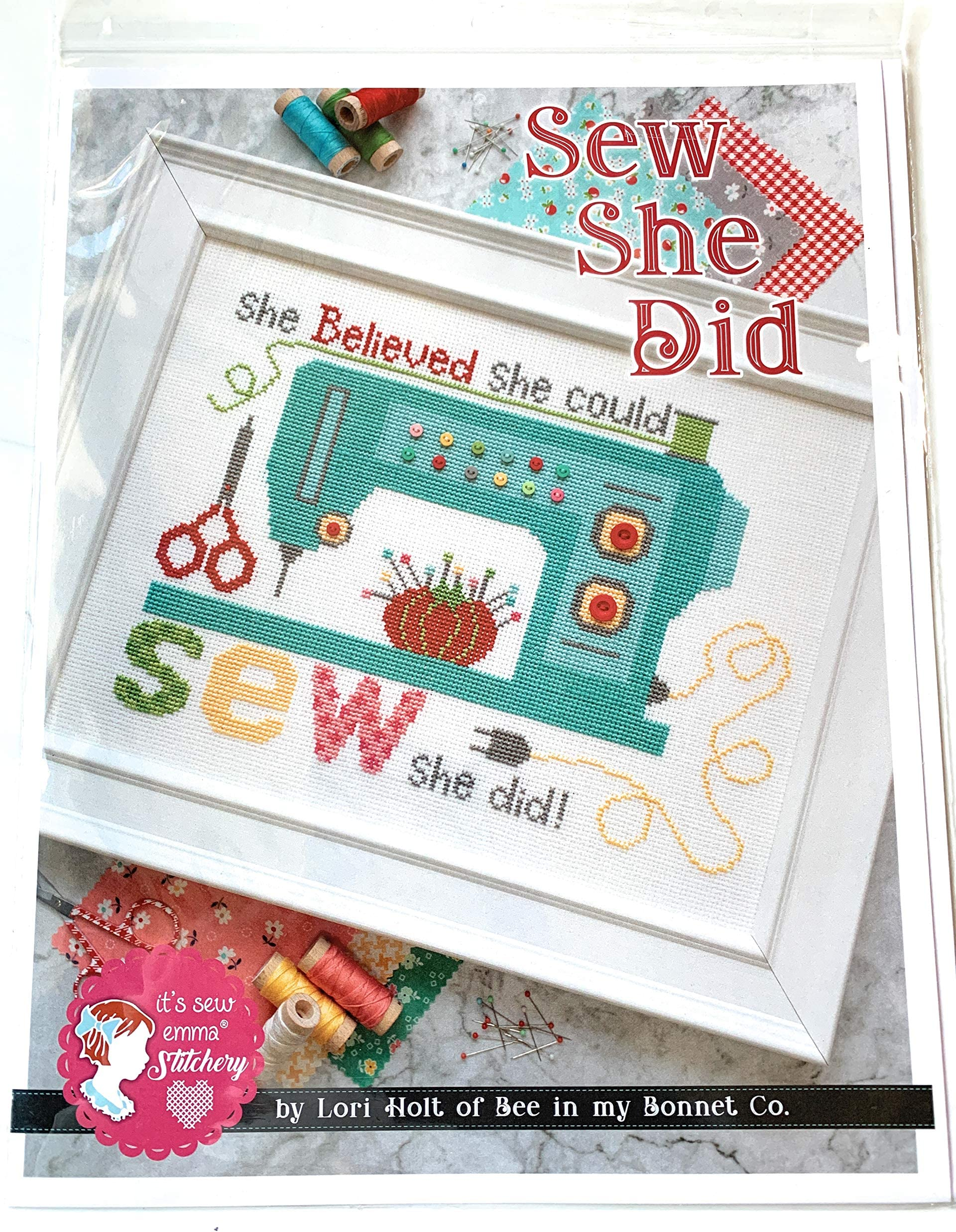 She believed she could so she did Cross stitch pattern Modern cross stitch Inspirational quote cross stitch Easy DIY gift Instant download