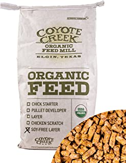 Coyote Creek Certified Organic Feed - Soy-free Laying Hen Pellet - 20lbs
