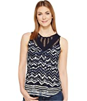 Lucky Brand - Batik Drop Needle Top