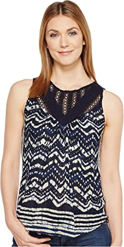 Lucky Brand Batik Drop Needle Top