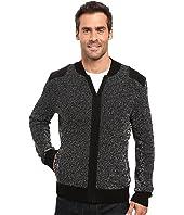 Kenneth Cole Sportswear - Marled Bomber Jacket w/ Felt