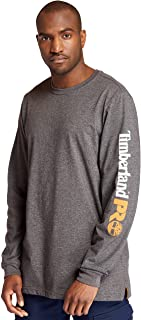 Timberland Men's Base Plate Blended Long-Sleeve T-Shirt with Logo (Big/Tall)