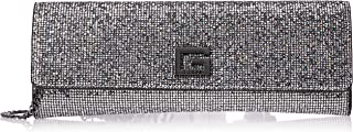 GUESS Women's Pixi Clutch Shoulder Bag, Color: Silver