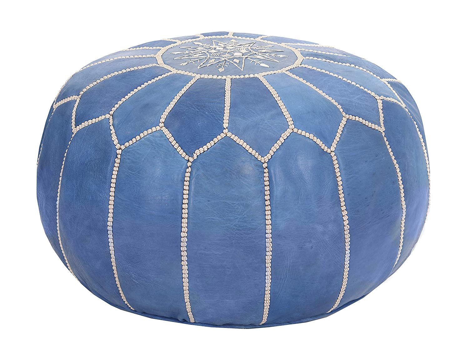 Premium Handmade Leather Moroccan Cover Gifts Ottoman 2021 Footstool - Pouf