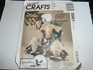 Mccall's Crafts Sewing Pattern 5581 Jolly Old Egg Stuffed Doll in 13
