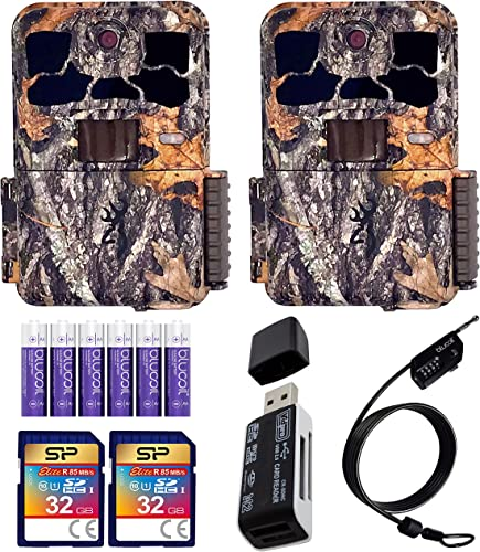 high quality Browning BTC-8E-HP4 Spec Ops Elite HP4 Trail Cameras (2-Pack) Bundle with 32GB SDHC Memory new arrival Cards (2-Pack), Blucoil 6 AA Batteries, 6.5-FT high quality Combination Cable Lock, and USB 2.0 Card Reader outlet online sale