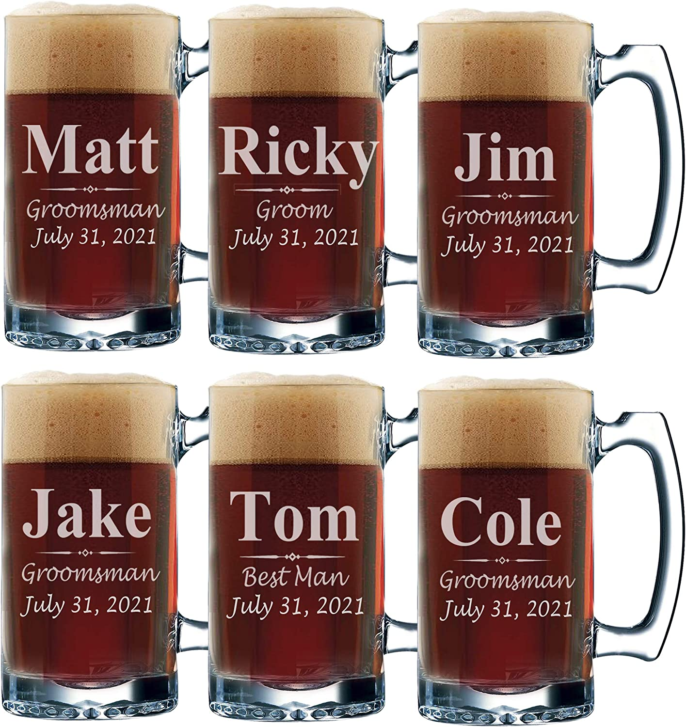 Genuine Set of 3 5 7 and more Beer Groomsmen Personalized Animer price revision