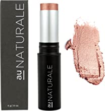 Au Naturale All-Glowing Creme Highlighter Stick in Rose Gold | Made in the USA | Organic | Vegan | Cruelty-free | Cream