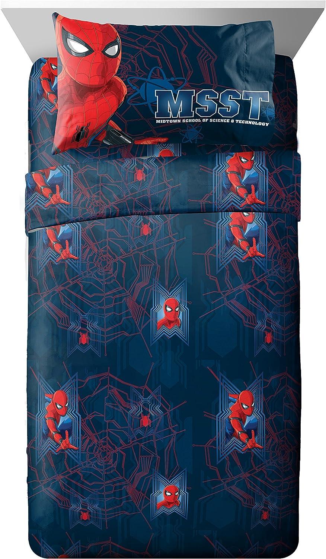 Marvel Spiderman Homecoming Attack 4 Piece Full Sheet Set, 4