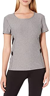 X by Gottex Women's Short Sleeve Top with Powermesh Trim