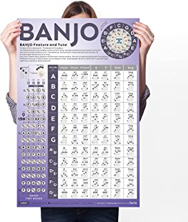Banjo Chord Chart of Popular Chords | Reference Poster of Banjo