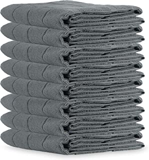 Satrang Microfiber Tea Towels - Lint-Free - Pack of 8 - Super Absorbent Dish Towels - Non- Abrasive Kitchen Towels - Quick...
