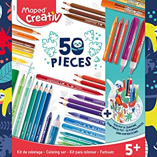 Maped Color Peps 50 Piece Colouring Set (With desk tidy)
