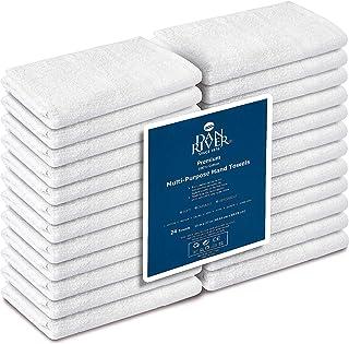 DAN RIVER 100% Cotton Hand Towels Set Pk 24-100% Cotton Saloon Towel-Ultra Soft Hand Towels-100% Cotton Gym Towel-(Pk 24, White)-16 x 26-Ringspun Cotton-Maximum Softness and Absorbency-Easy Care