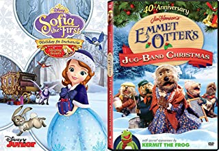 Family and Kids Christmas DVD Bundle - Jim Henson's Emmet Otter's Jug-Band Christmas (40th Anniversary) & Sofia the First Holiday In Enchancia 2-Classic Movie Bundle