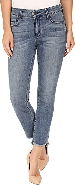 Shark Bite Straight Crop Jeans in Nile