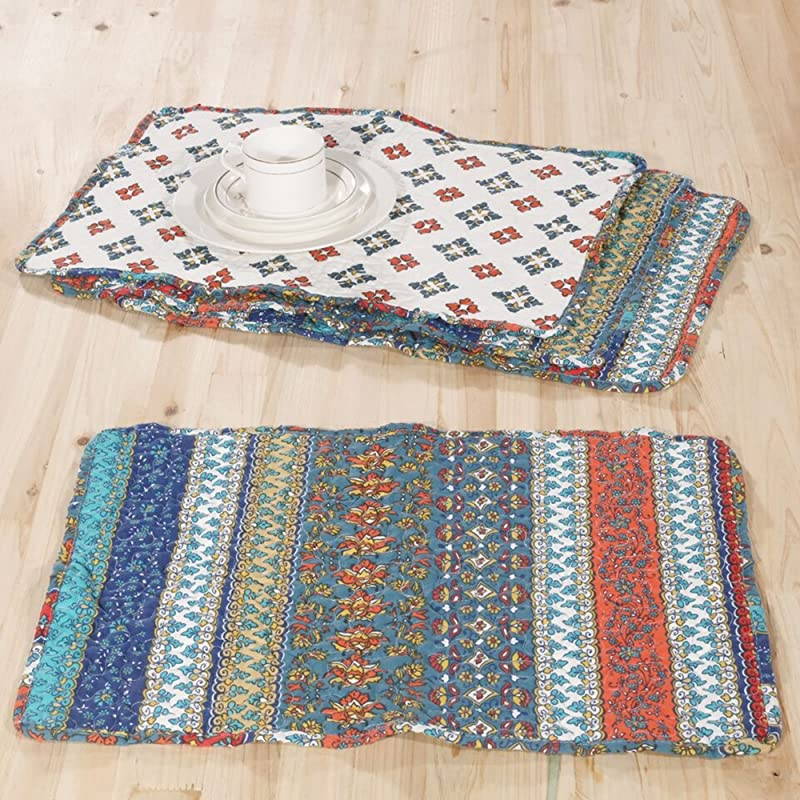 Barefoot Bungalow Brooklyn Placemat Set Multi