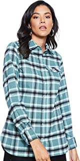 Columbia Silver RidgeTM Flannel Tunic For Women, Size S (Green) (191455063990)