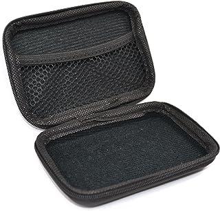 "Teak Tuning Fingerboard Travel Carry Case, Mini - Hard Protective Shell, Black - 4.5"" x 3"" x 1.5"" Mini Version"