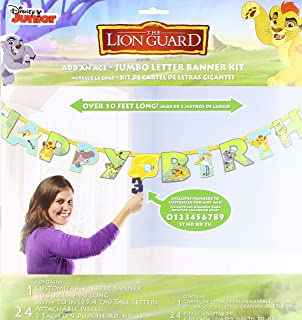 Lion Guard Birthday Banner Kit Party Supplies Lion King Add an Age Custom Banner