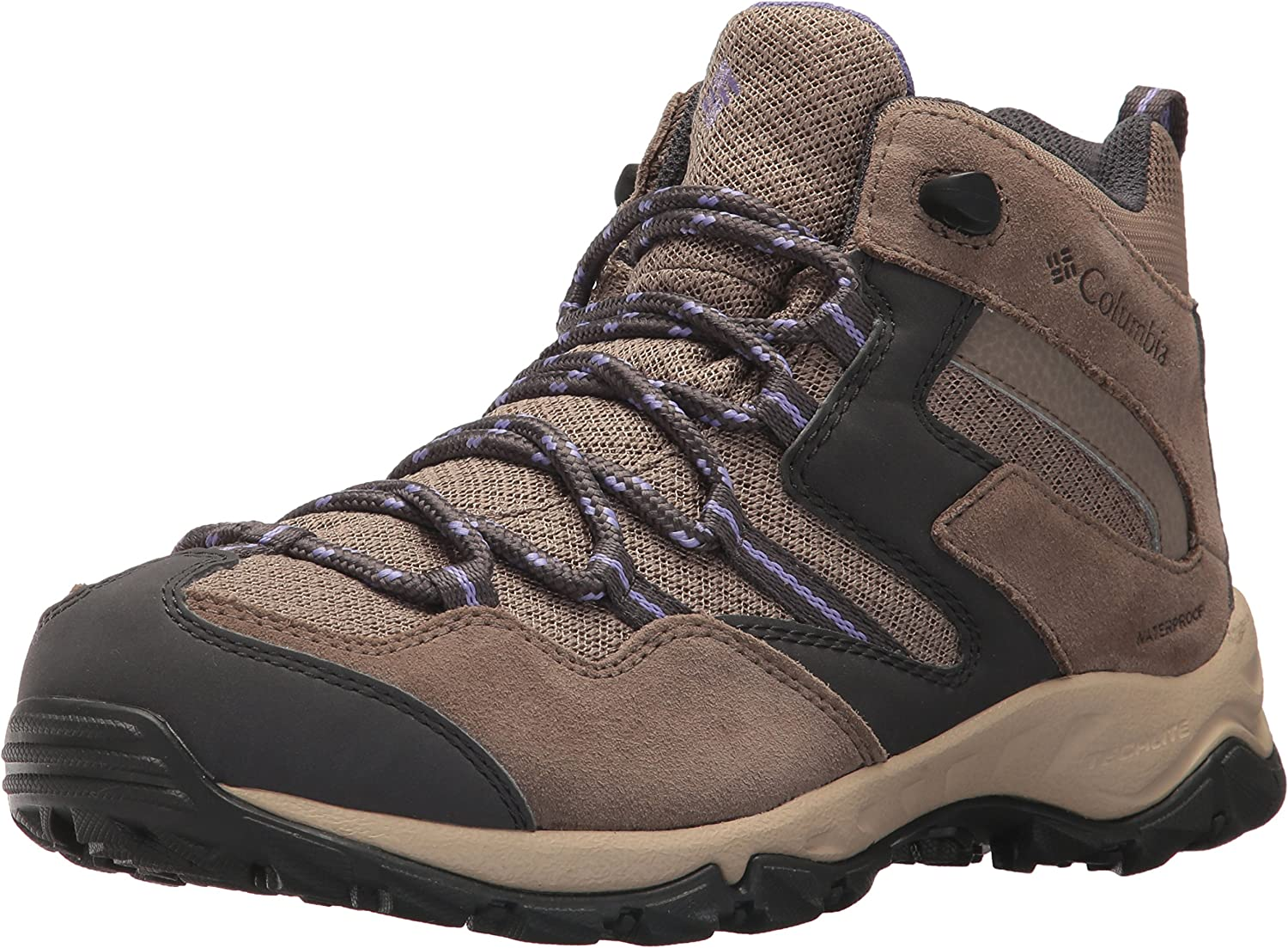 Columbia Woherren Maiden Peak Waterproof Mid Calf Stiefel, Wet Sand, lila Aster, 5 Regular US