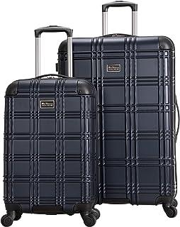 "Ben Sherman Nottingham Lightweight Hardside 4-Wheel Spinner Travel Luggage, Navy, 2-Piece Set (20"" & 28"")"